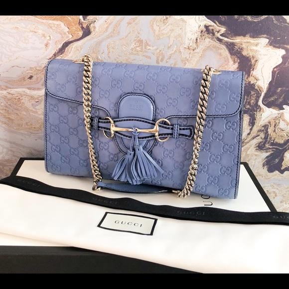 6d220d32dd1 Gucci Handbags - Gucci Guccissima Medium Emily Chain Shoulder Bag